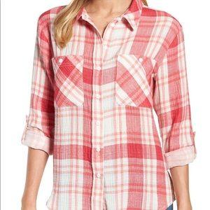 SANCTUARY Plaid Button Down Shirt
